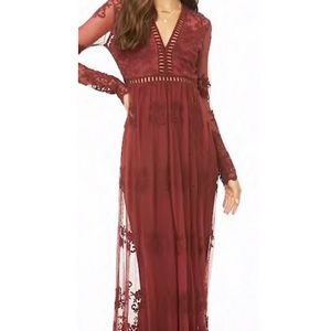 Forever 21 Dresses - Forever 21 Lace Embroidered Maxi Dress